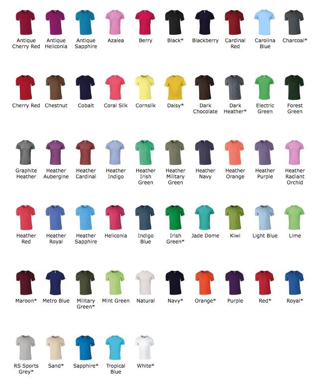 Couleurs T-shirt étudiant personnalisé