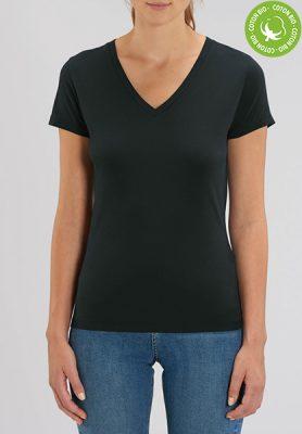 T-shirts étudiants personnalisés - T-shirt bio femme col V - Mon-BDE
