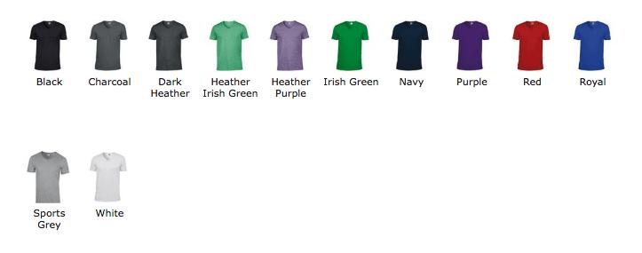 Couleurs T-shirt BDE personnalisé