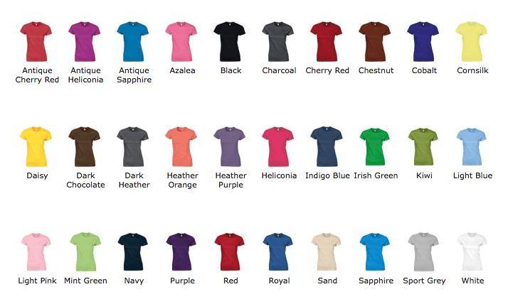 Couleurs T-shirt association étudiante