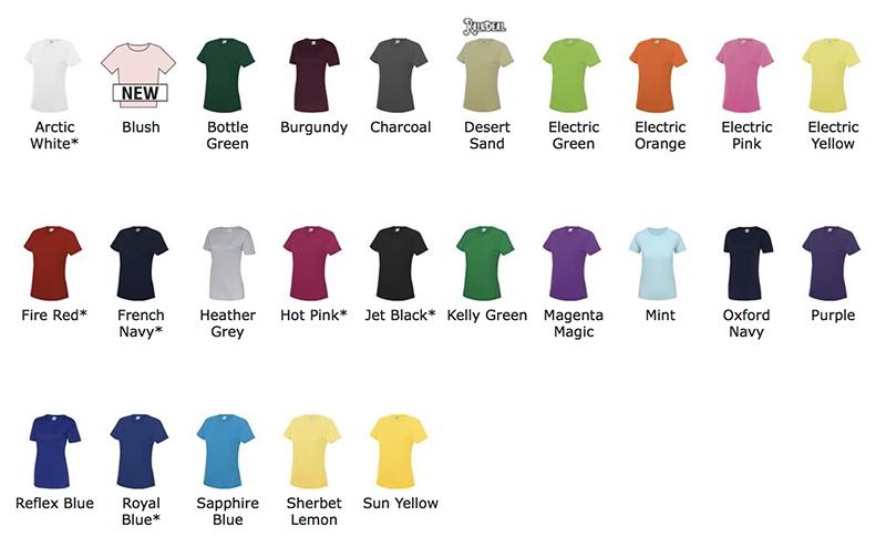couleurs T-shirt de sport femme