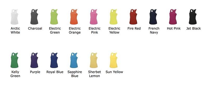 couleurs débardeur sport personnalisable - Mon-BDE