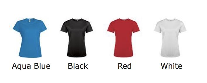 couleurs T-shirt de sport premium femme