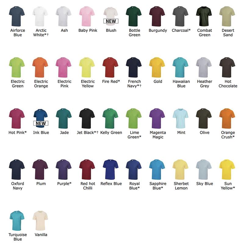 couleurs T-shirt de sport homme